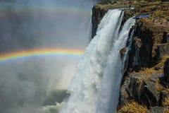 Livingstone di cascate Victoria, Zambia Fotografie Stock