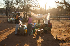 LIVINGSTONE - OCTOBER 14 2013: Local people in the town center o Stock Photo