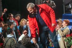 Liviu Dragnea Elections Meeting Lizenzfreie Stockfotografie