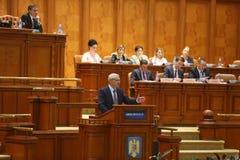Liviu Dragnea parlament Zdjęcia Royalty Free