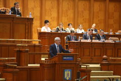 Liviu Dragnea Parliament Royalty Free Stock Photos