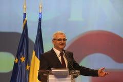 Liviu Dragnea at Social Democrat Party PSD Extraordinary National Congress. BUCHAREST, ROMANIA - March 10, 2018: Liviu Dragnea, President of Social Democrat Stock Image