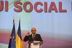 Liviu Dragnea at Social Democrat Party PSD Extraordinary National Congress. BUCHAREST, ROMANIA - March 10, 2018: Liviu Dragnea, President of Social Democrat Stock Photo