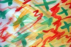 Livlig abstrakt bakgrund för vattenfärg, färgrik bild Royaltyfri Foto