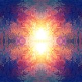 Livlig abstrakt symmetrisk bakgrund Royaltyfria Bilder