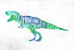 Livlig färg för Dynosaur tyranosaurus vektor illustrationer