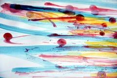 Livlig färgrik vaxabstrakt begreppbakgrund Arkivfoto