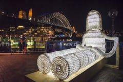 Livlig festival, skulptur, Sydney, Australien arkivbilder