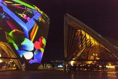LIVLIG festival Sydney Opera House Royaltyfri Fotografi