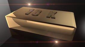livlig guldtacka 3D royaltyfri illustrationer