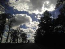 Livlig himmel arkivfoton