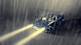 Livlig kall bil Arkivbilder