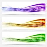 Livlig linje banerfootersamling för hastighetsswooshabstrakt begrepp Fotografering för Bildbyråer