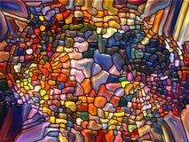 Livlig målat glass Arkivfoton
