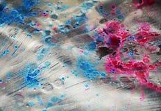 Livlig röd pastellfärgad suddighet brända fläckar, abstrakta vattenfärgpastelltoner Royaltyfria Bilder