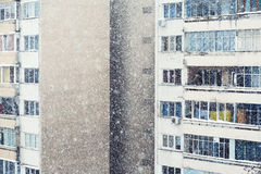 Livlig snö Arkivbilder