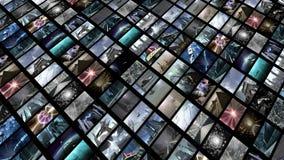 Livlig video vägg, diagonalt Ögla-i stånd 4K vektor illustrationer