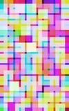 livliga digitala fyrkanter Arkivbilder