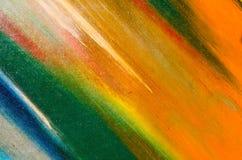 Livliga färger på kanfas Arkivbild