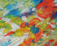 Livliga färgstänk för idérik vattenfärg för silverpastell lerig, abstrakt idérik bakgrund för målarfärg Royaltyfria Foton