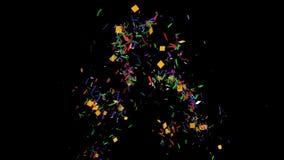 Livliga konfettier arkivfilmer