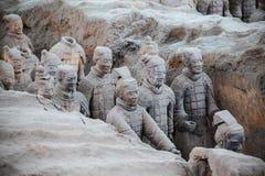 Livliga terrakottakrigare Arkivfoton