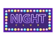 Livligt baner för nattklubb vektor illustrationer