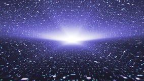 Livligt kosmiskt lopp, blått Ögla-i stånd 4K stock illustrationer