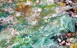 Livligt mörkt - grön orange mjuk bakgrund, toner, vattenfärgmålarfärgbakgrund arkivfoton