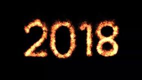 Livligt nytt år 2018 stock video