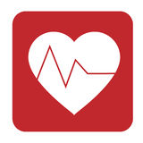 Livlinje inom en hjärtaform Arkivfoto