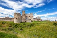 Livonian命令城堡废墟  拉克韦雷,爱沙尼亚,波罗的海国家, 库存照片