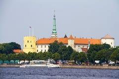 Livonian mittelalterliches Schloss Rigas Stockbild