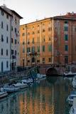 Livorno bei Sonnenuntergang 2 stockfoto