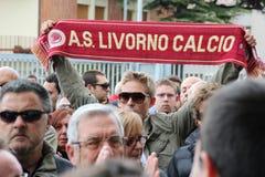 Livorno football commemoration Morosini Royalty Free Stock Image
