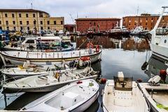 Livorno harbour royalty free stock photo