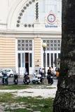 Livorno, Italia - 25 de septiembre de 2016: El ferrocarril central de Livorno Livorno fue fundado en 1017 como uno de los pequeño Imagen de archivo