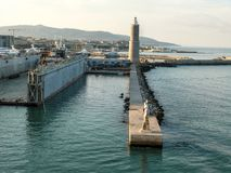 Livorno (Leghorn) harbour Stock Image