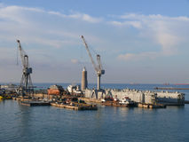 Livorno (Leghorn) harbour Stock Images