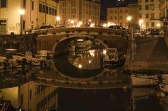 Livorno by night Stock Photos