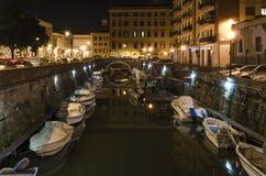 Livorno by night Royalty Free Stock Image
