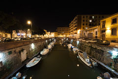 Livorno by night Royalty Free Stock Images