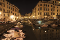 Livorno by night Stock Photo