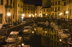 Livorno by night Stock Photography