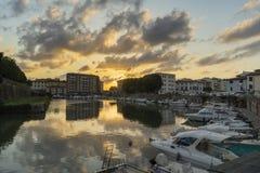 Livorno no por do sol Foto de Stock