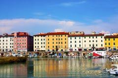 livorno port Royaltyfri Fotografi