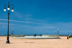 Livorno seaside. In a sunny summer day Stock Images