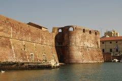 Livorno sulla barca Fotografia Stock Libera da Diritti