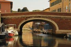 Livorno sulla barca Immagini Stock Libere da Diritti