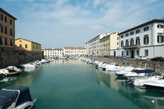Livorno town, Italy Stock Image